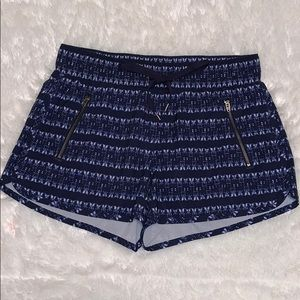 Athleta navy blue and white shorts size S